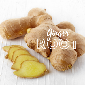 ginger root and sliced ginger root